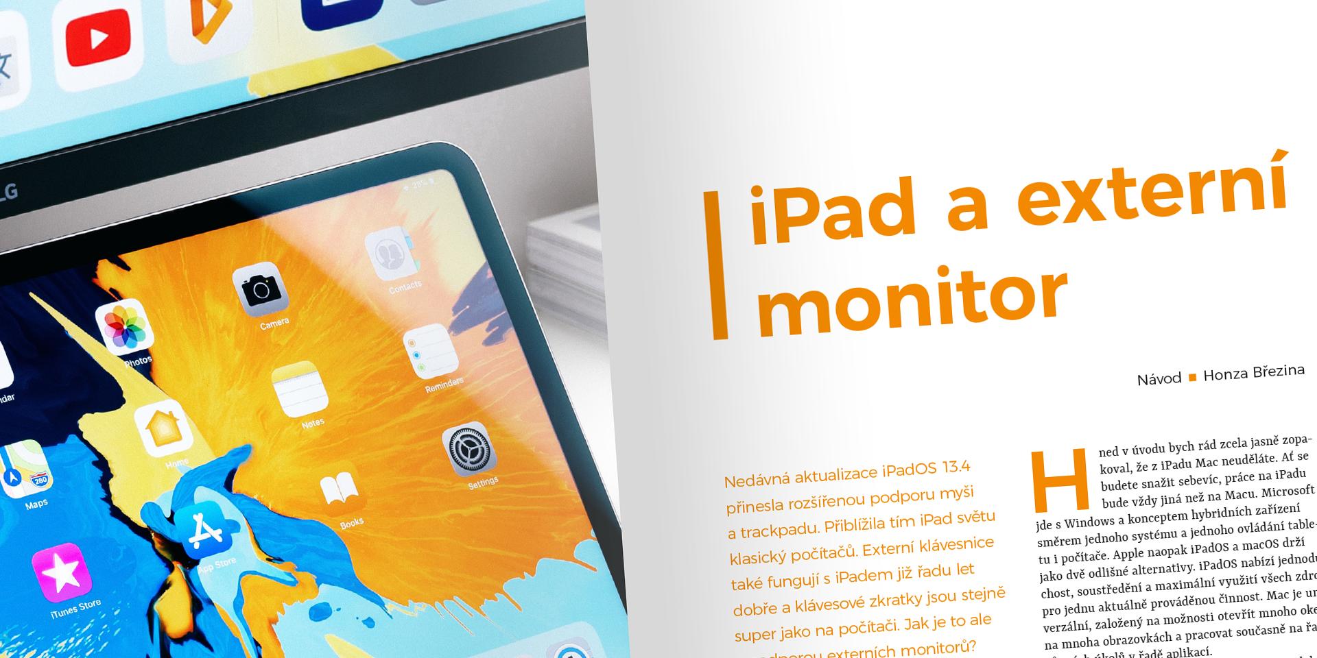 iPad a externí displej