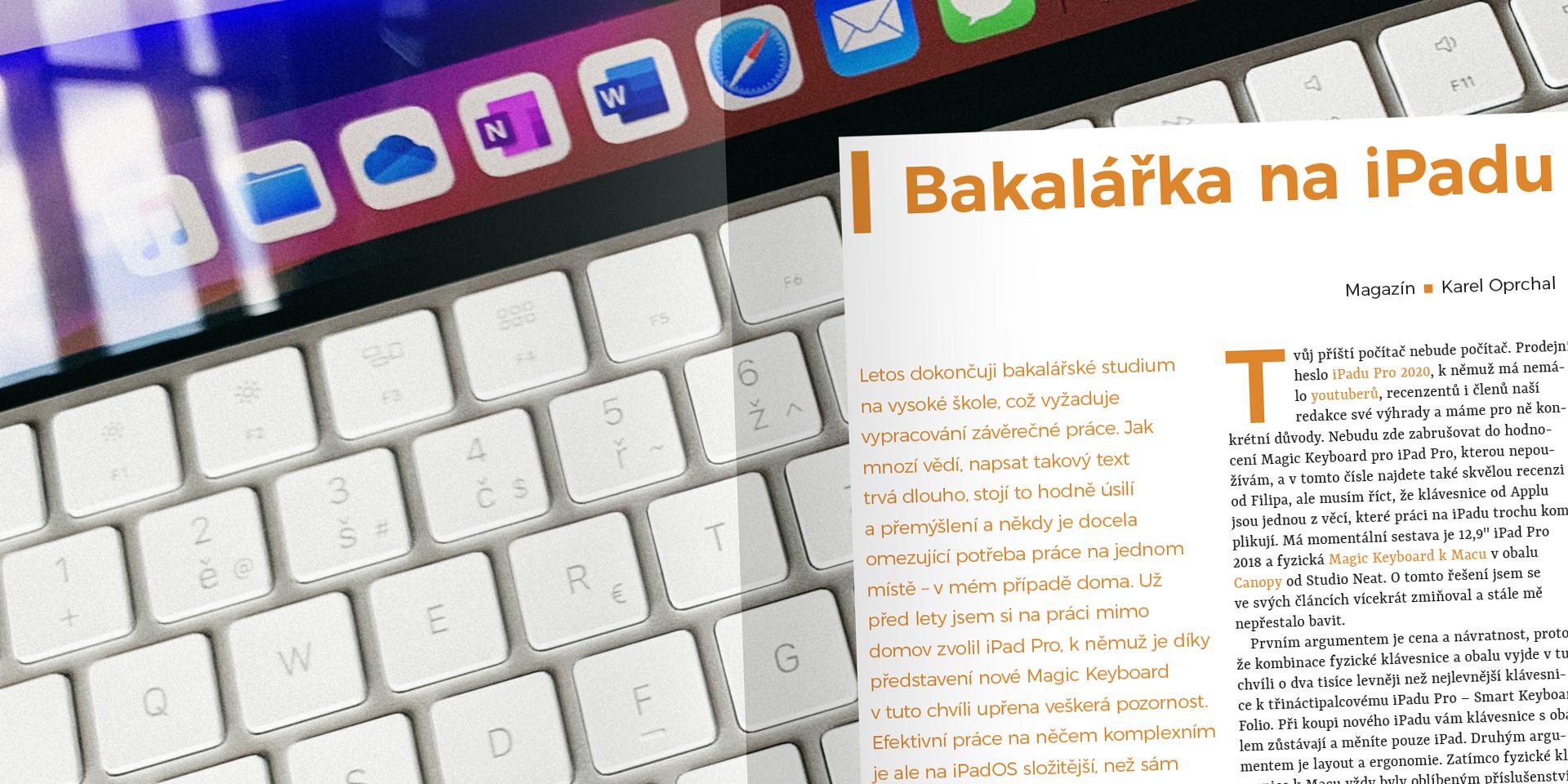 iPad psaní